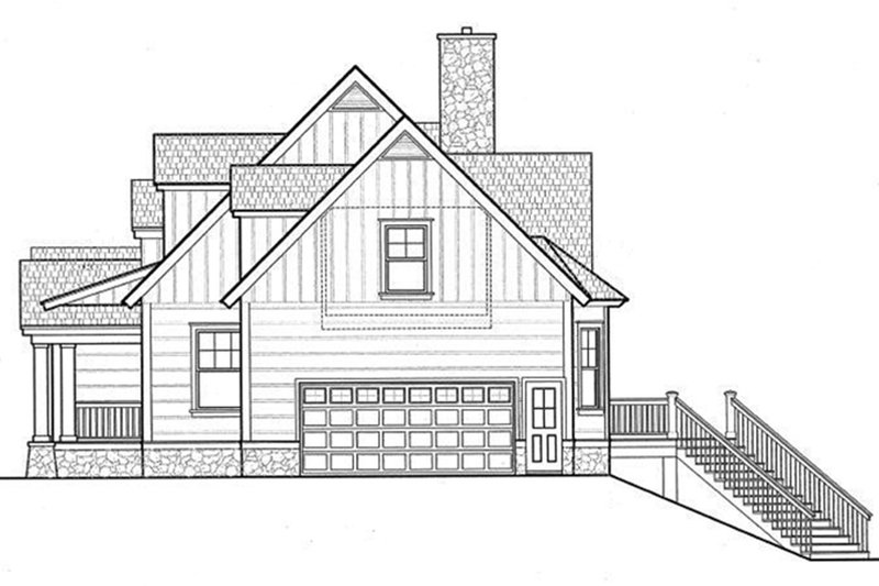 Log Exterior - Other Elevation Plan #417-564 - Houseplans.com
