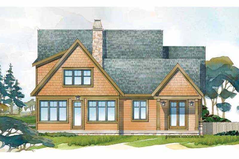 Craftsman Exterior - Rear Elevation Plan #928-228 - Houseplans.com