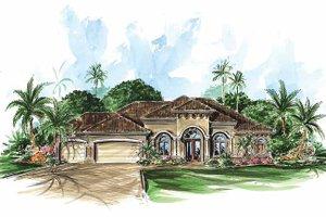 House Plan Design - Mediterranean Exterior - Front Elevation Plan #1017-19