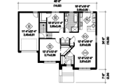 Contemporary Style House Plan - 2 Beds 1 Baths 1099 Sq/Ft Plan #25-4591 Floor Plan - Main Floor Plan