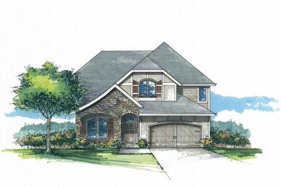 Craftsman Exterior - Front Elevation Plan #53-551