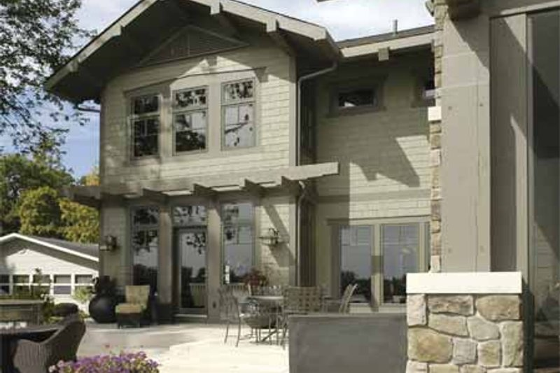 Craftsman Exterior - Rear Elevation Plan #928-15 - Houseplans.com