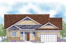 Country Exterior - Front Elevation Plan #938-37