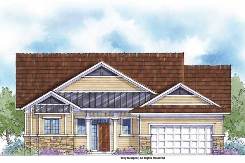 House Plan Design - Country Exterior - Front Elevation Plan #938-37