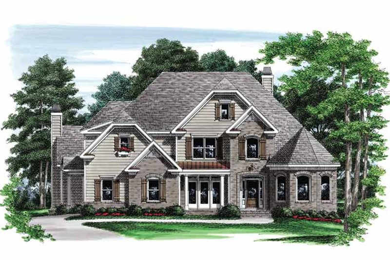 Traditional Exterior - Front Elevation Plan #927-562 - Houseplans.com