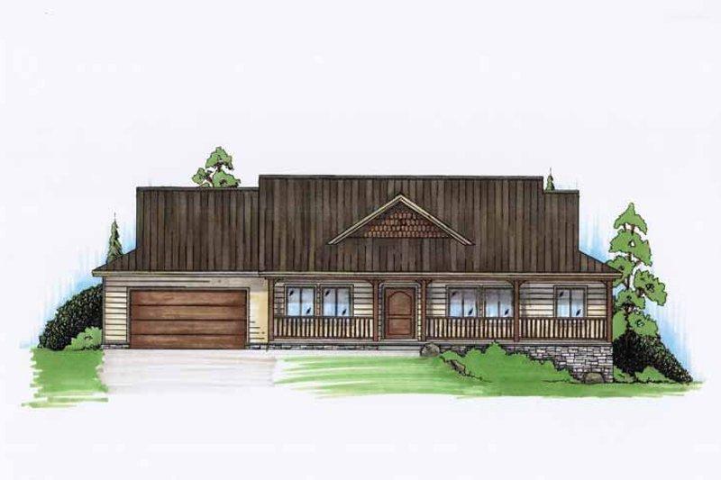 Architectural House Design - Adobe / Southwestern Exterior - Front Elevation Plan #945-126