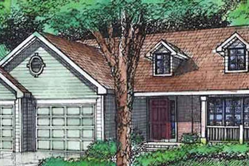 Ranch Exterior - Front Elevation Plan #320-401