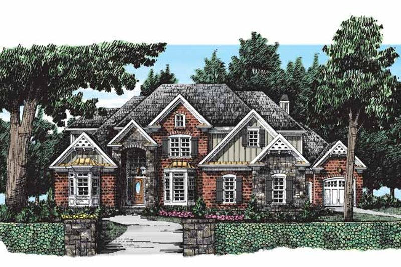 House Design - Country Exterior - Front Elevation Plan #927-286