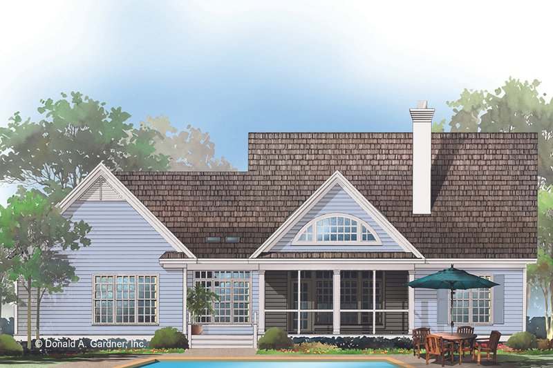 Country Exterior - Rear Elevation Plan #929-393 - Houseplans.com