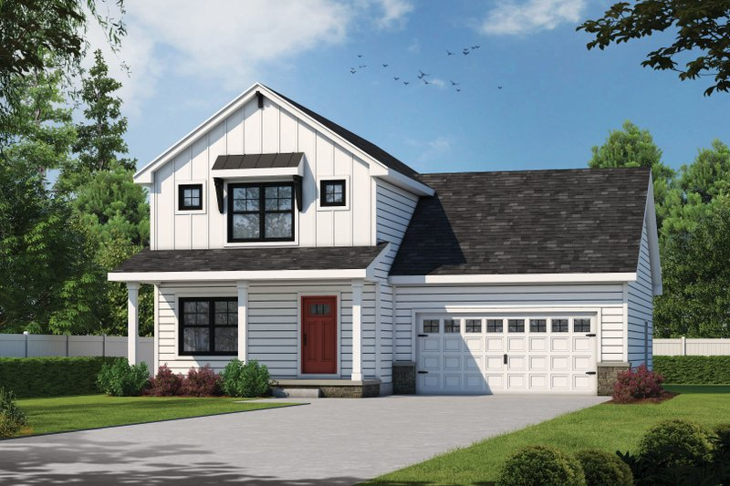 Architectural House Design - Farmhouse Exterior - Front Elevation Plan #20-2410