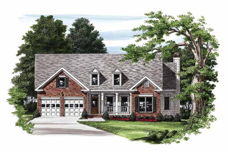 Country Exterior - Front Elevation Plan #927-248