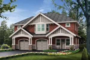 Architectural House Design - Craftsman Exterior - Front Elevation Plan #132-283