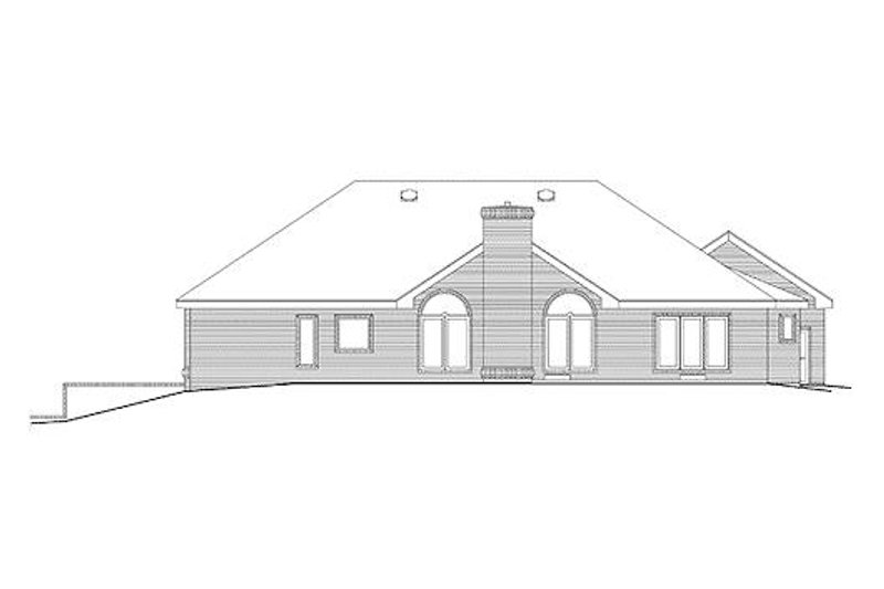 Traditional Exterior - Rear Elevation Plan #57-293 - Houseplans.com