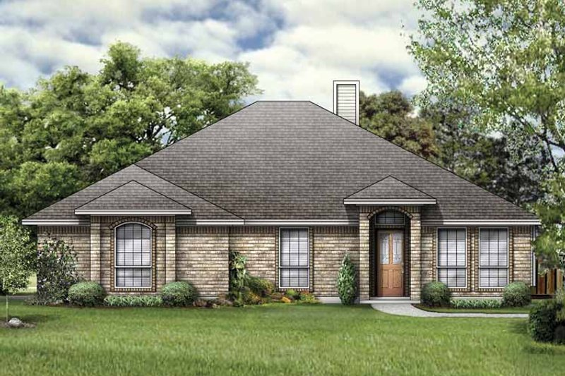 Traditional Exterior - Front Elevation Plan #84-761 - Houseplans.com