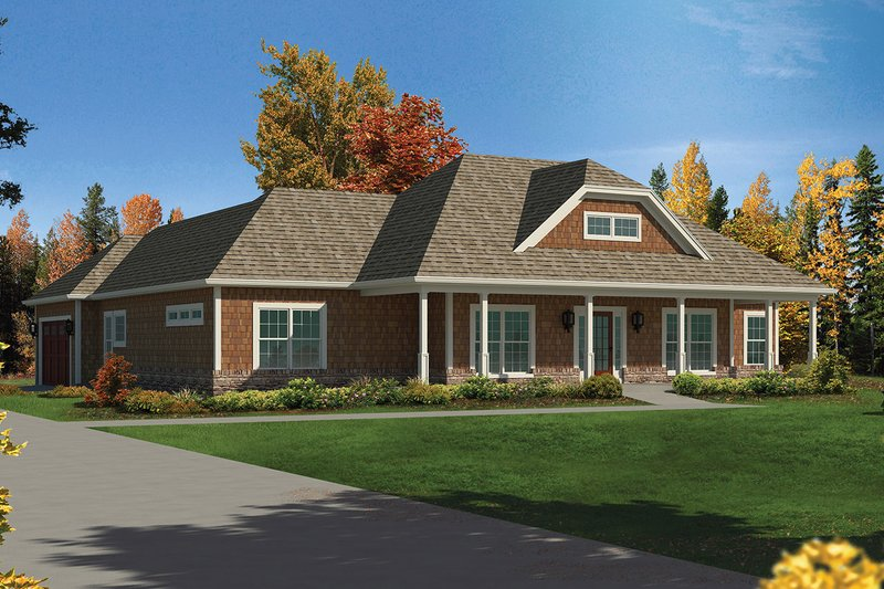 House Plan Design - Craftsman Exterior - Front Elevation Plan #57-652