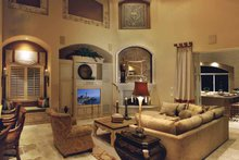 Mediterranean Interior - Family Room Plan #930-329
