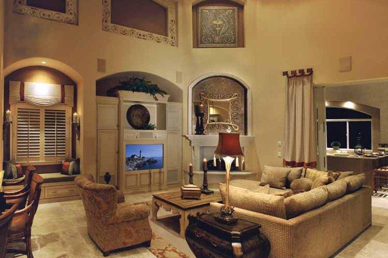 Mediterranean Interior - Family Room Plan #930-329 - Houseplans.com