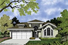 House Plan Design - Mediterranean Exterior - Front Elevation Plan #417-460