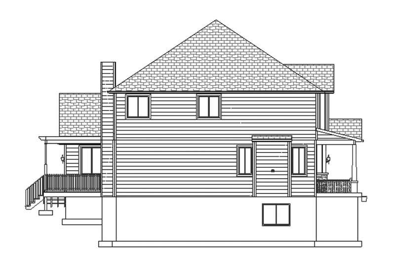 Traditional Exterior - Other Elevation Plan #1060-8 - Houseplans.com