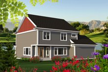 Craftsman Exterior - Rear Elevation Plan #70-1218