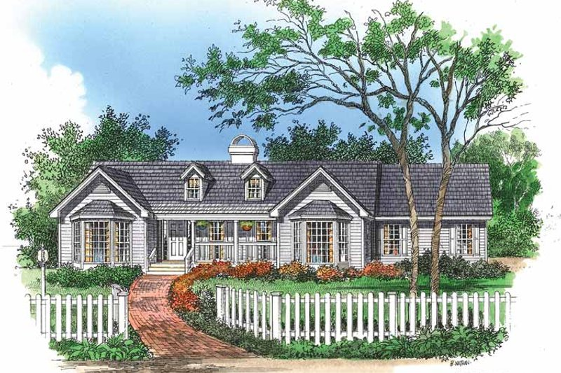 Country Exterior - Front Elevation Plan #929-106