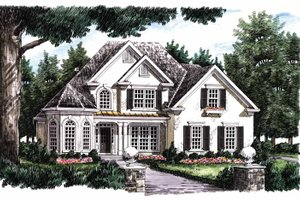 Home Plan - Mediterranean Exterior - Front Elevation Plan #927-212