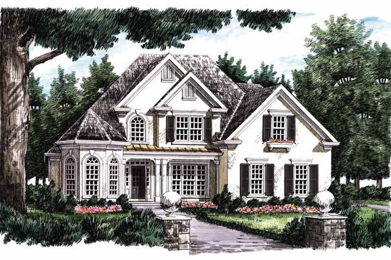 Mediterranean Exterior - Front Elevation Plan #927-212