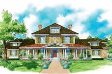 Architectural House Design - Colonial Exterior - Front Elevation Plan #930-204