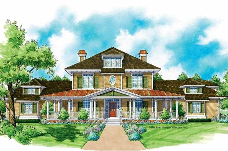 Colonial Exterior - Front Elevation Plan #930-204
