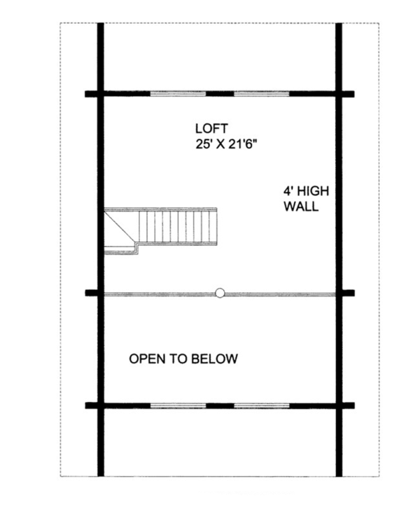 Log Floor Plan - Upper Floor Plan Plan #117-821