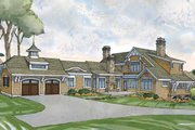 Craftsman Style House Plan - 4 Beds 4.5 Baths 4860 Sq/Ft Plan #928-235 Exterior - Rear Elevation