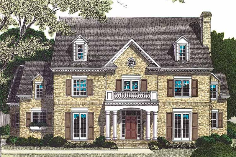 Traditional Exterior - Front Elevation Plan #453-462 - Houseplans.com