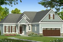 Dream House Plan - Ranch Exterior - Front Elevation Plan #1010-179