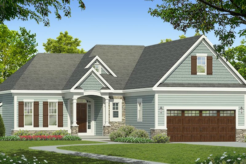 Ranch Exterior - Front Elevation Plan #1010-179 - Houseplans.com