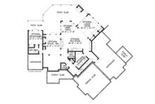 Craftsman Floor Plan - Lower Floor Plan Plan #54-375