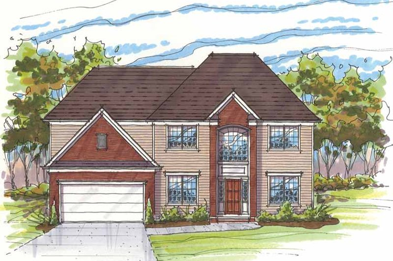 Traditional Exterior - Front Elevation Plan #435-7