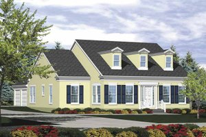 Colonial Exterior - Front Elevation Plan #320-829