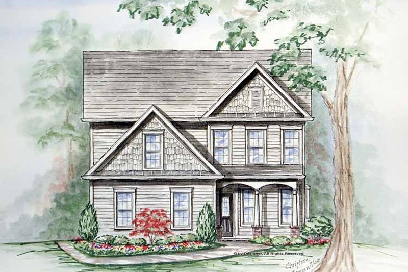 Craftsman Exterior - Front Elevation Plan #54-332
