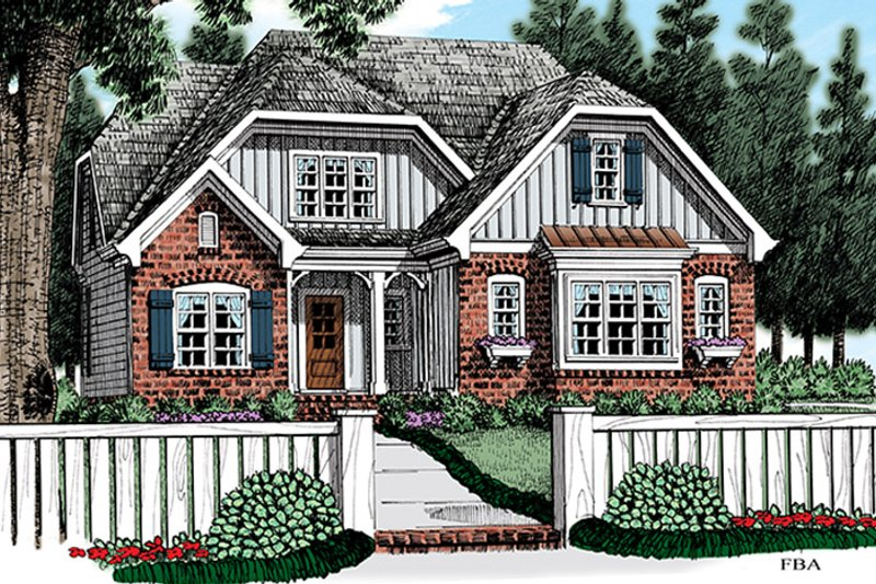 Cottage Exterior - Front Elevation Plan #927-972 - Houseplans.com