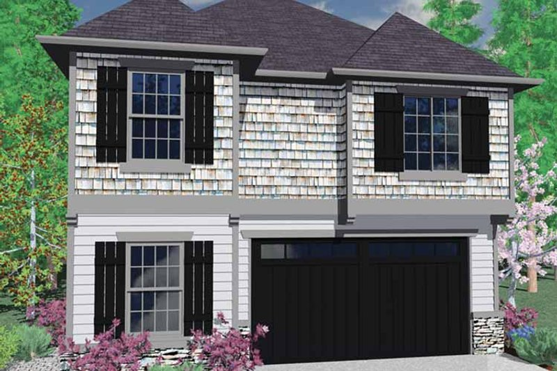 Country Exterior - Front Elevation Plan #509-255