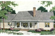 Southern Exterior - Rear Elevation Plan #406-274