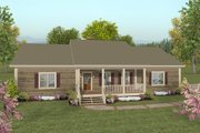 Country Style House Plan - 2 Beds 2.5 Baths 1500 Sq/Ft Plan #56-621 Exterior - Front Elevation