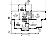 Country Style House Plan - 4 Beds 2 Baths 3066 Sq/Ft Plan #25-4484 Floor Plan - Main Floor Plan