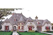 European Style House Plan - 4 Beds 4 Baths 3643 Sq/Ft Plan #310-686 Exterior - Front Elevation