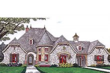 Architectural House Design - European Exterior - Front Elevation Plan #310-686