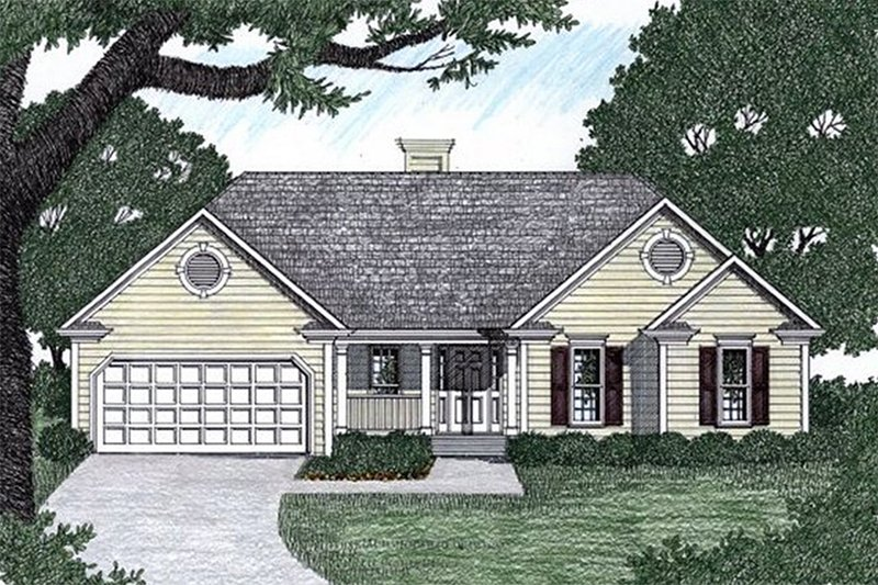 Traditional Exterior - Front Elevation Plan #129-111 - Houseplans.com