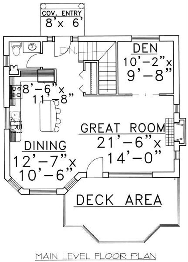 Traditional Floor Plan - Main Floor Plan Plan #117-557