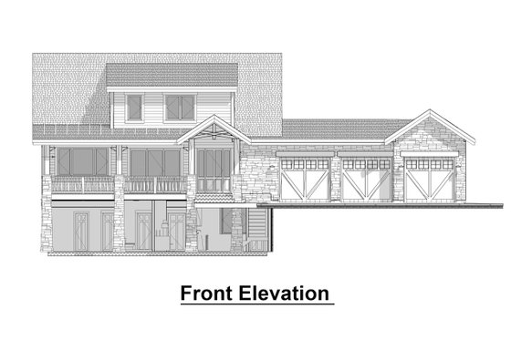 Craftsman Exterior - Front Elevation Plan #908-3