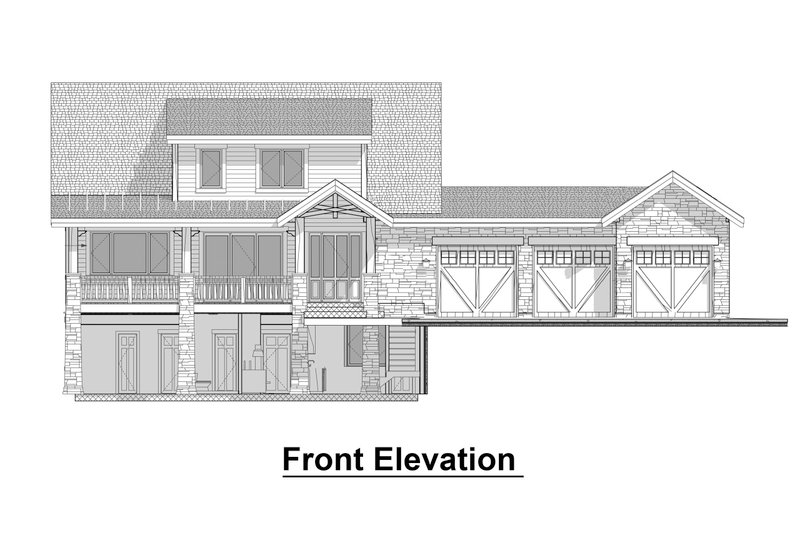 Craftsman Style House Plan - 4 Beds 3.5 Baths 2243 Sq/Ft Plan #908-3 Exterior - Front Elevation