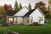 Farmhouse Style House Plan - 3 Beds 2 Baths 1196 Sq/Ft Plan #48-1031 Exterior - Rear Elevation